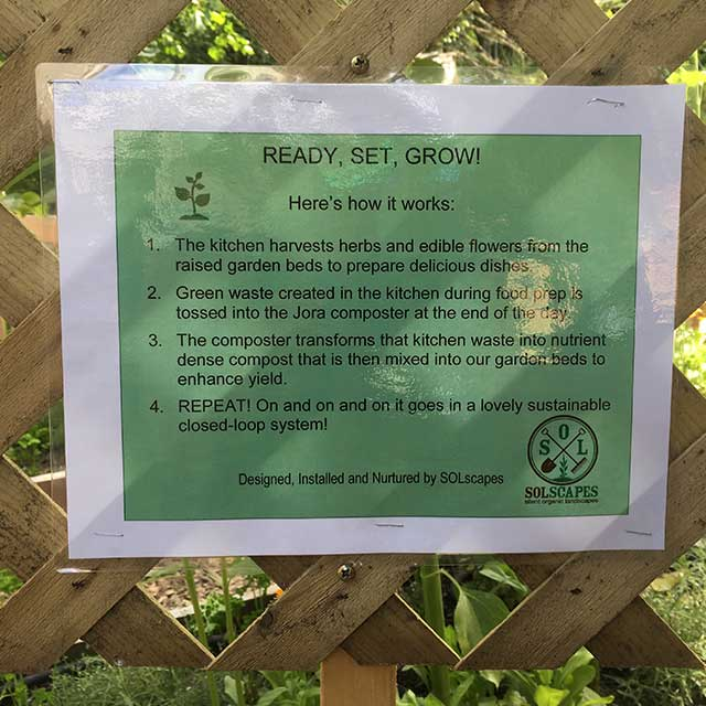 Landscaping services education reminders food security